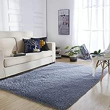 YOH UItra Soft Area Rugs Fluffy Gray Carpet Children Kids Room Girls Bedroom Living Room Home Decor Nursery Rugs 4'x 5.3'