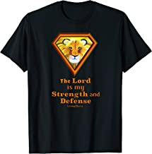 Lion Tshirt with Verse The Lord is my Strength and Defense