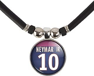 SpotlightJewels Neymar Jr. Jersey Necklace, Paris #10 Neymar Jr. Soccer Jersey Necklace
