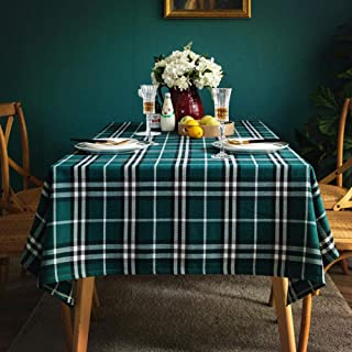 Home Pattern Wipe Clean Fabric Tablecloth Wear Resistant and Durable for Indoor or Outdoor Parties Birthdays Weddings Gree...
