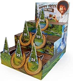 Bob Ross Ring Toss - Happy Little Trees Party Game for Kids and Adults Indoor Cardboard Birthday Party Game