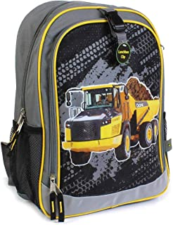 Gray Construction Dump Truck Bookbag Backpack LP70693