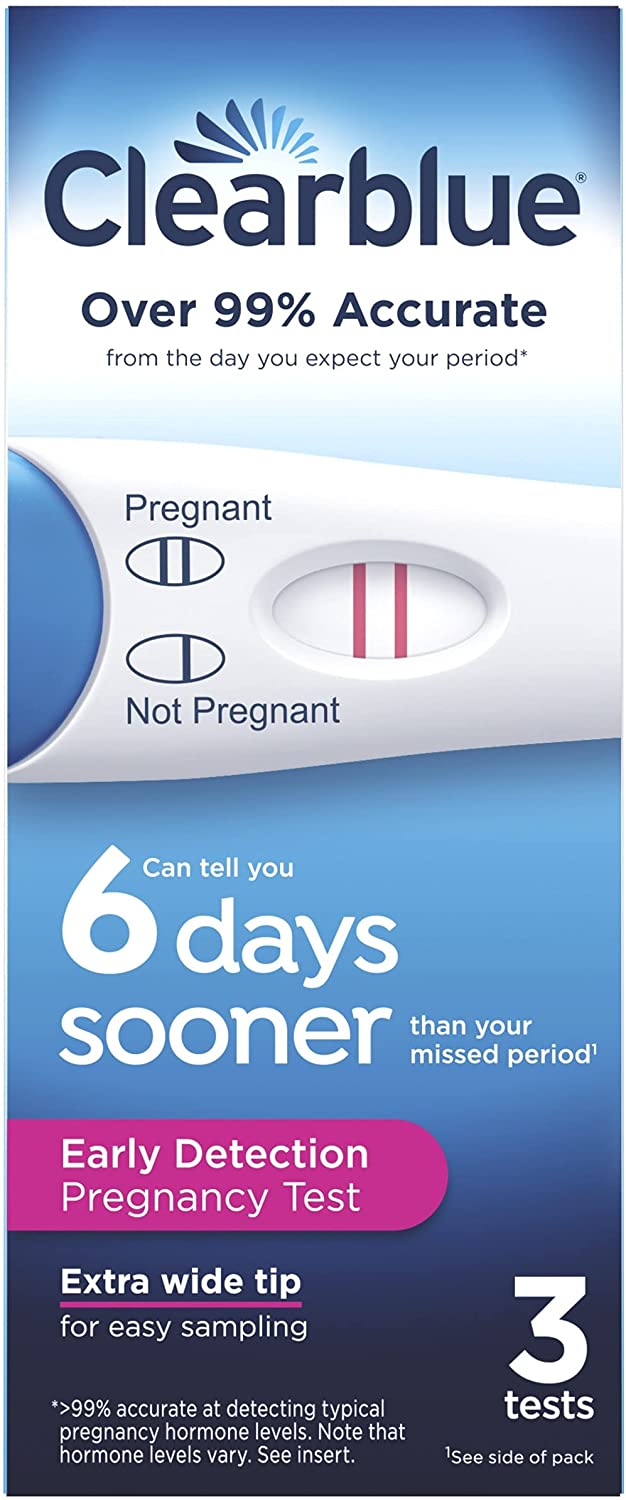 Clearblue Early Detection Pregnancy Test, 3ct