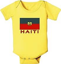 TooLoud Haiti Flag Baby Romper Bodysuit