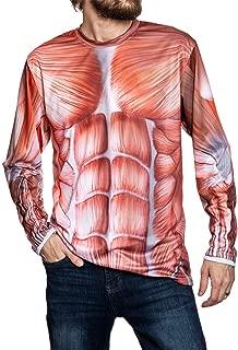 Mens Human Anatomy Musculoskeletal Long Sleeve Costume Shirt