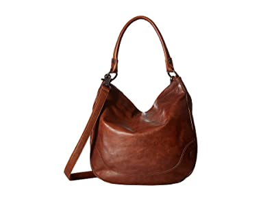 Frye Melissa Hobo (Cognac Antique Pull Up) Hobo Handbags