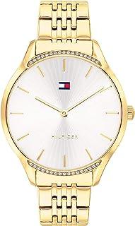 ساعة تومي هيلفجر بمينا فضية مطلية بالايون الذهبي للنساء - 1782211