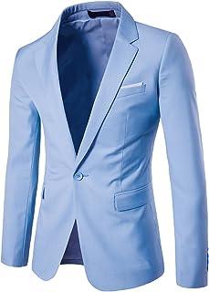 Men's Suit Jacket One Button Slim Fit Sport Coat Business Daily Blazer