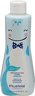 Edição Limitada Baleia Gentle Shampoo, Suave e Não Arde os Olhos, Mustela Bebê, Azul, Grande/500 ml