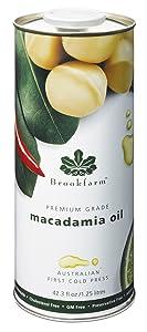Brookfarm Premium-Grade Natural Macadamia Oil, 42.3 fl oz (1.25l)