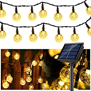 Globe String Lights, 37 FT 60 Solar Globe String Lights,(Upgraded Battery)Waterproof 8 Modes Powered String Lights for Pat...