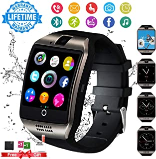 Burxoe Smart Watch,Smartwatch for Android Phones,Smart Watches Touchscreen with Camera Bluetooth Watch Cell Phone with Sim Card Slot Compatible Samsung iOS Phone 12 12 Pro 11 10 Men Women