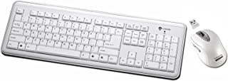 I-Rocks RF-6577L-WH – Retro 2.4GHz Wireless Keyboard and Mouse Combo (White)