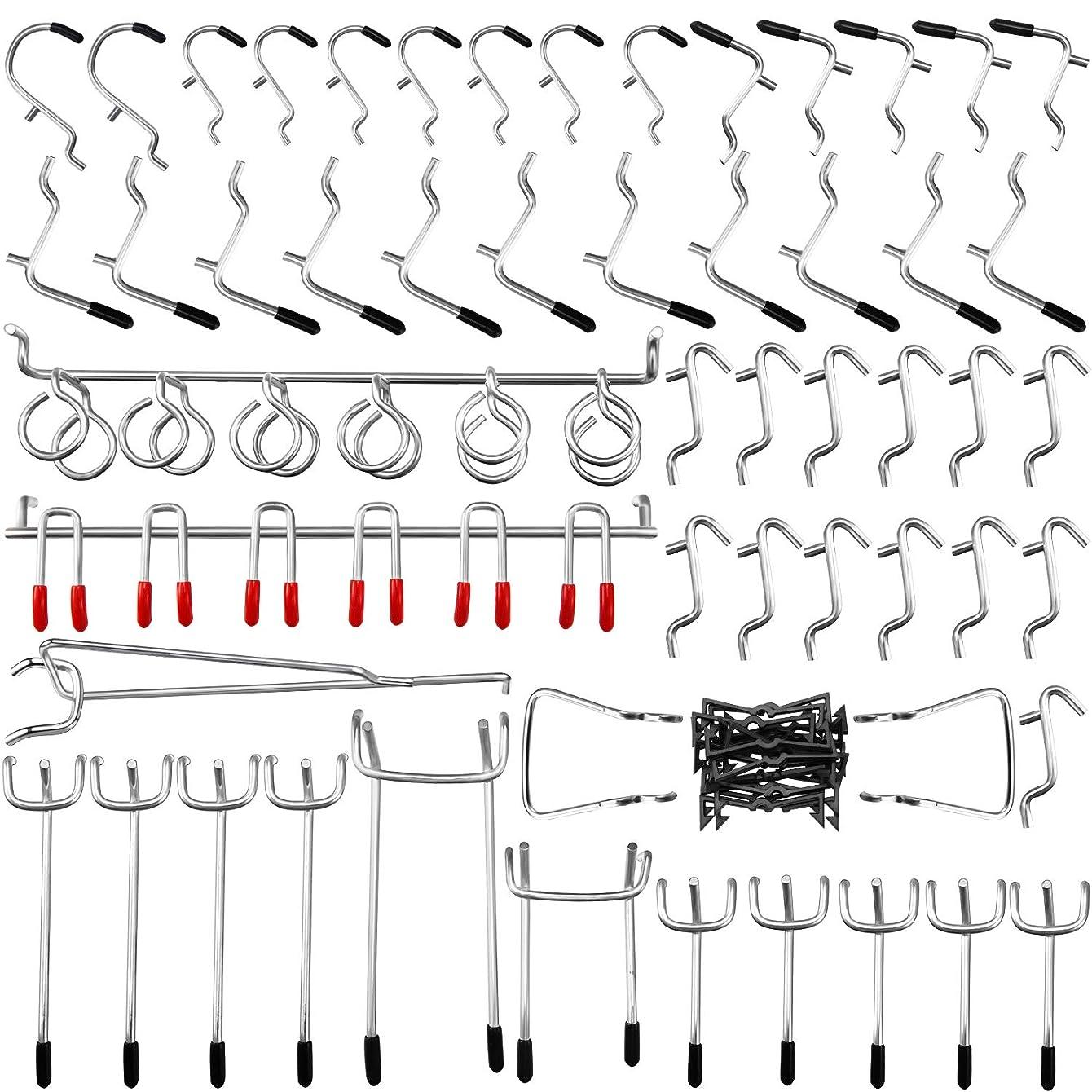 Pegboard Hooks Assortment, 54Pcs Pegboard Hook Organizer Accessories Set with 20Pcs Peg Locks