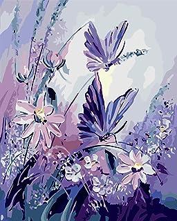 VIKMARI Kits de pintura por números para adultos de 40,6 x 50,8 cm para pintura de lienzo por números, kits de pintura par...