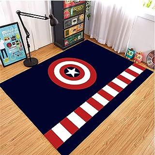 GOOCO Tapis Enfants Rectangle Avengers Hulk Iron Man garçons Filles Chambre d'enfants Moderne bébé Tapis de Jeu Tapis De C...