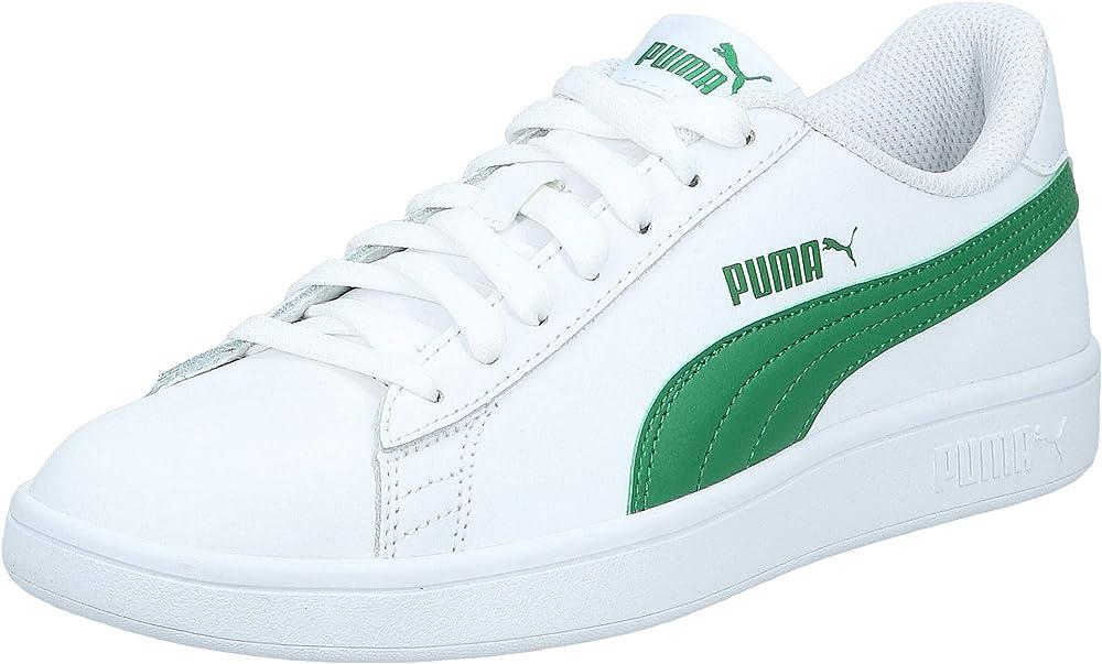 Puma smash v2 l` scarpe da ginnastica basse sneakers unisex in vera pelle 365215C