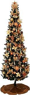 クリスマス屋 クリスマスツリー スリムツリーセット 210cm コパー ゴールド LED