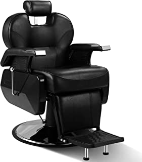 ARTIST HAND Black All Purpose Hydraulic Recline Barber Chair Salon Beauty Spa Shampoo StylingChair for Beauty Shop (1 PCS, Black)