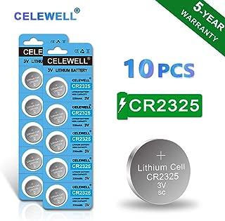 【5-Year Warranty】 CELEWELL CR2325 Battery 3V Lithium Batteries (10 Pack)