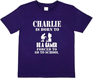 Print4u Charlie Born to Be Gamer Tee Personalised T-Shirt