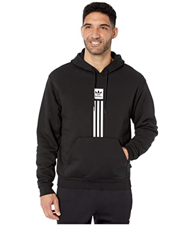 adidas Skateboarding Solid Pillar Hoodie (Black/White) Men