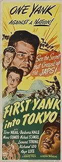 First Yank Into Tokyo Movie Poster (14 x 36 Inches - 36cm x 92cm) (1945) Insert -(Tom Neal)(Barbara Hale)(Marc Cramer)(Richard Loo)(Keye Luke)