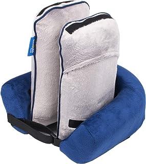 Roamwild Surround Travel Pillow EVO - Almohada de cuello y cabeza, barbilla y soporte para cabeza ajustable, diseño de Invención británica (azul marino)