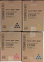 Ricoh 828350, 828351, 828352, 828353 Toner Cartridge Set Cyan, Magenta, Yellow, Black 1 Each in Retail Packing