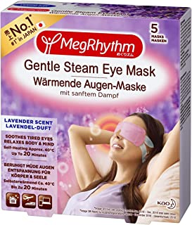 MegRhythm Gentle Steam Warming Eye Mask, Lavender, Pack of 5