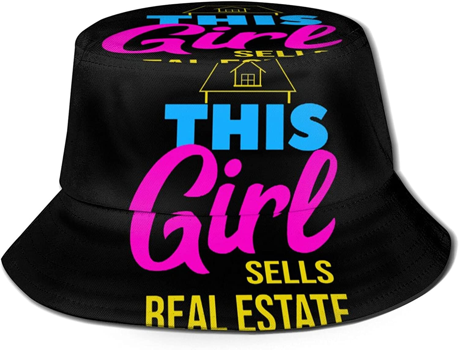 Max 43% OFF This Girl Sells Real Estate Bucket Pac Summer SALENEW very popular Hat Sun Unisex