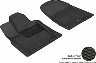 3D MAXpider Front Row Custom Fit All-Weather Floor Mat for Select Dodge Durango / Jeep Grand Cherokee Models - Kagu Rubber (Black)