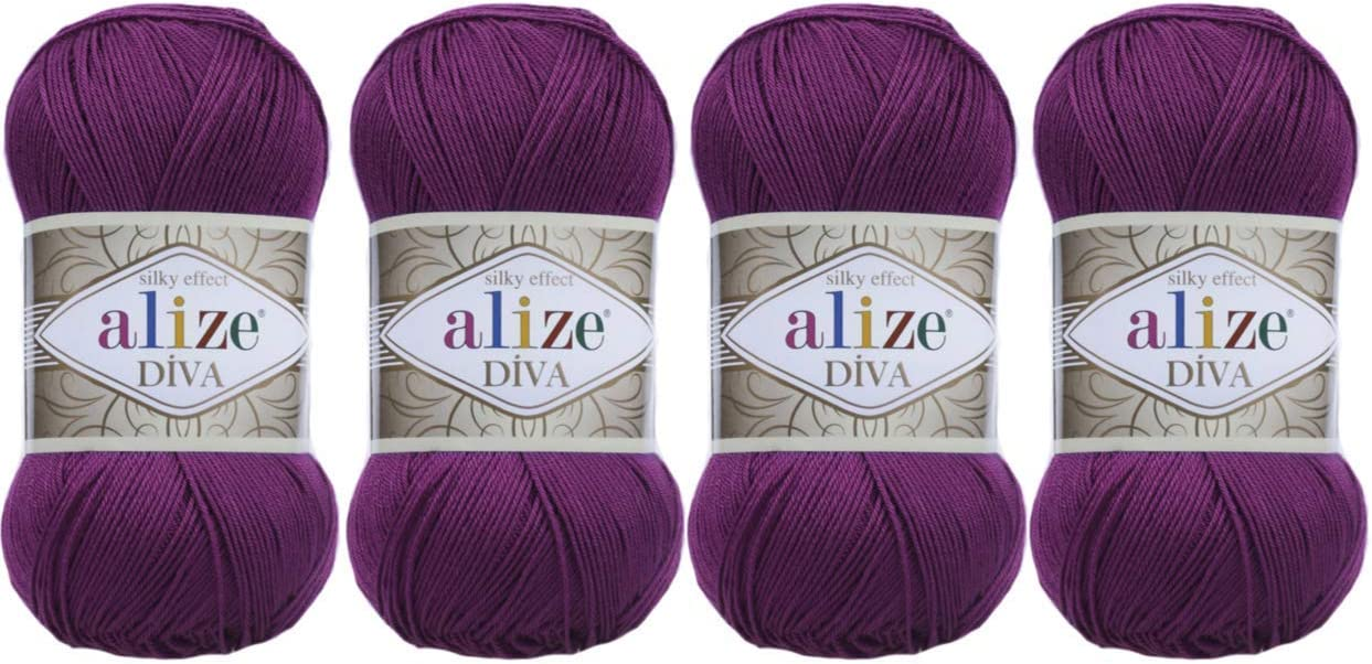 Hand Knitting Yarn 100% Microfiber Very popular Alize Ranking TOP15 Silk Acrylic Diva