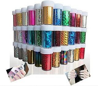 52 Mix Star Pattern Fashion Design Glitzy Transfer Nail ART Foil Roll,Nail Tips Decorations Accessories 4cm120cm