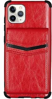 جراب محفظة EnjoyCase لهاتف iPhone 12 Mini 5.4 بوصات، حامل بطاقات خلفي من جلد البولي يوريثان مضاد للصدمات مع غطاء خلفي من ا...