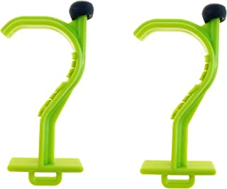 Kooty Key Germ Utility Tool- Avoid Touching Bacteria Ridden Surfaces- Carabiner Included (Colors May Vary) (2 Pack, Green)