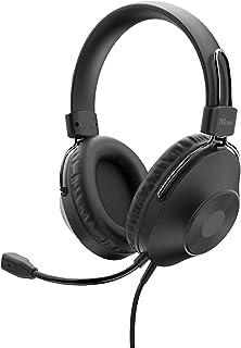 Trust Zaru Over Ear USB Headset mit Mikrofon, Kopfhörer für PC mit Mikro, 2 m Kabel, Komfortable Ohrumschließende Polster, für Office, Homeoffice, Chat, Business, Skype, Teams, Videokonferenz, Zoom