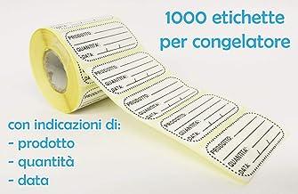 1 etichette Sticker congelamento congelato etichette Congelatore rotolo 50 x 25 mm Data Per i prodotti alimentari surgelati adesivo alimentari