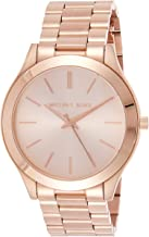Michael Kors Women's Rose Gold Dial Stainless Steel Band Watch [MK3197]