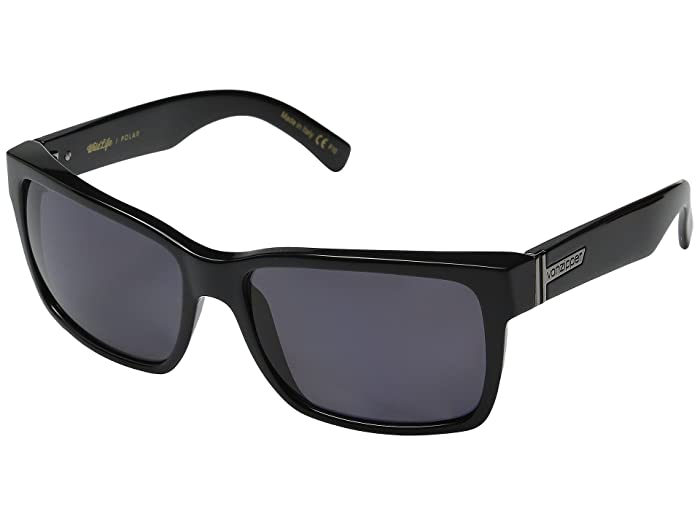 VonZipper Elmore Polarized (Black Gloss/Vintage Grey Wildlife) Fashion Sunglasses