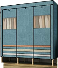 Wardrobe Storage Cabinet Portable Clothes Closet Wardrobe Storage Double Rod Freestanding Closet Quick and Easy to Assembl...