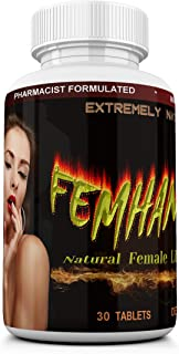 FEMHANCER Natural Horny Goat Weed, Maca, Ginseng, Chasteberry, Tribulus, Ginkgo, Ashwagandha and other Herbs, Vitamins and...