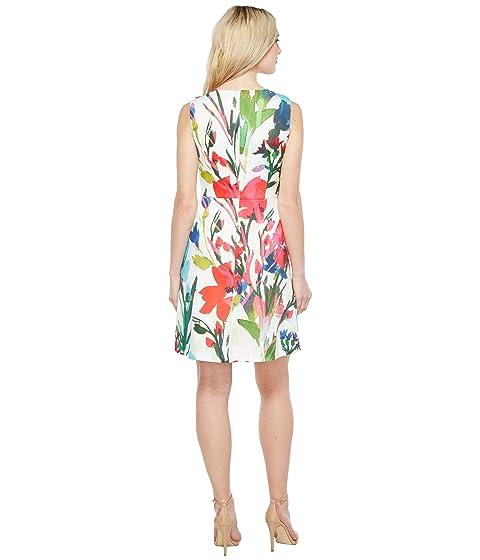 A Neck V Printed Tracy Scuba Line Dress with Ellen 5UTxRT