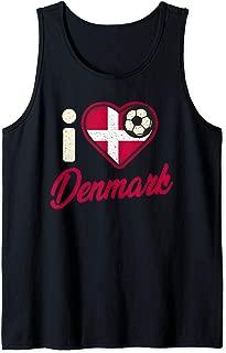 Danish Football Shirt Denmark Flag Football Soccer Gift Tank Top
