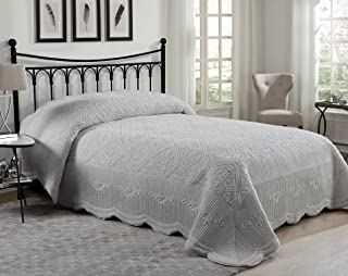 Victoria Classics WS1-3BP-FULL-IN-GV Westland Quilted Plush Full Bedspread Set, Grey