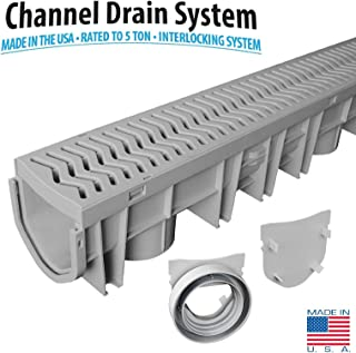 Source 1 Drainage S1E-PLCD Trench & Driveway Channel Drain with Grate
