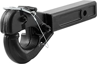 CURT 48004 Pintle Hook Hitch for 2-Inch Receiver, 20,000 lbs, Fits 2-1/2-Inch Lunette Ring