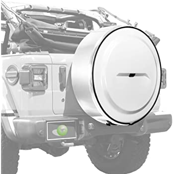 32 Color Matched MasterSeries Hard Tire Cover Jeep Wrangler JK Bright White