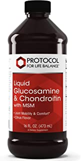 Protocol For Life Balance - Liquid Glucosamine and Chondroitin with MSM - Supports Joint Mobility and Comfort in Easy to S...