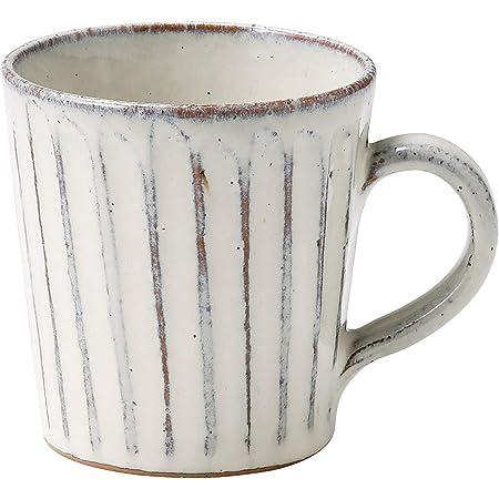 信楽焼 へちもん マグ カップ 白釉彫